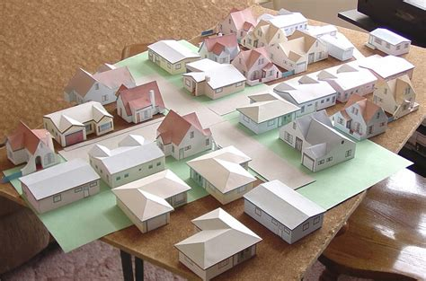 How To Make Models With Paper - paper house models to print and build by