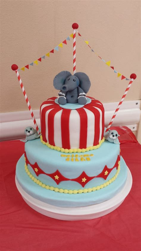 Circus Themed Baby Shower Cakes circus themed baby shower cake cakecentral