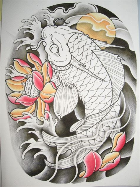 2012 koi dragon wip sketch pinterest tatuajes