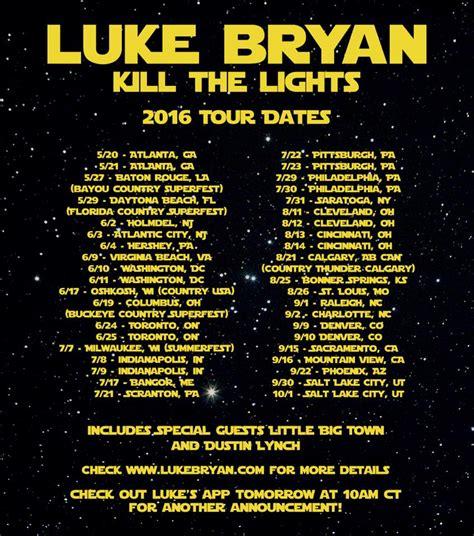 luke bryan kill the lights image gallery luke bryan tour dates 2016