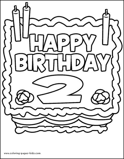 Coloring Page 2 Year by Free Coloring Pages Of For A 2 Year