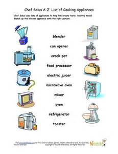 Kitchen Appliances Worksheet Find The Kitchen Appliance Matching Worksheet Nutrition
