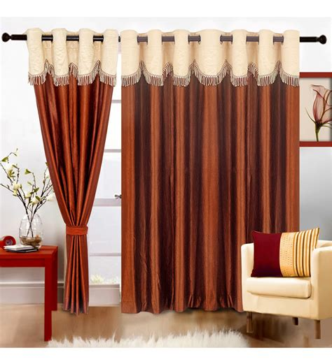 Fancy Door Curtains Cortina Coffee Fancy Crush Eyelet Door Curtains Set Of 2 7 Ft By Cortina Solids