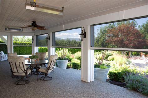 motorized screens for patios a home with a garden view phantom screens