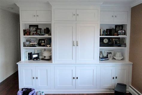 shaker door style kitchen cabinets built in tv cabinet built in for living room pinterest