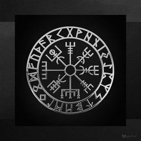 vegvisir a magic icelandic viking runic compass silver