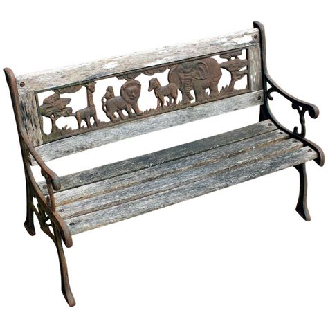 child bench rare child s bench animal kingdom american mid 20th
