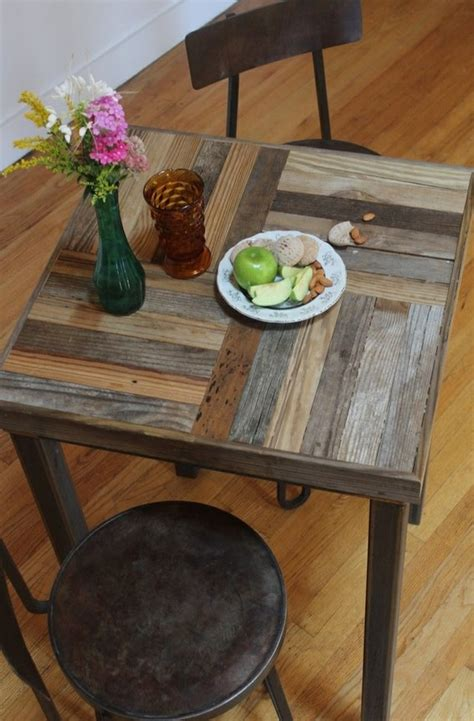 Repurposed Kitchen Table Custom Made Reclaimed Pallet And Barn Wood Pub Bistro Kitchen Table Crux Repurposed Pallets