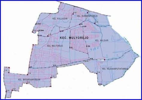 peta kecamatan mulyorejo surabaya timur lokanesia