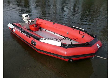 military rubber boat china aqualand 16ft semi rigid inflatable boat military