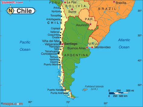 political map of chile chile map and chile satellite images