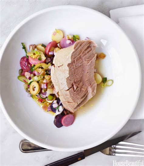 Poached Tuna | olive oil poached tuna recipe gabrielle hamilton recipes