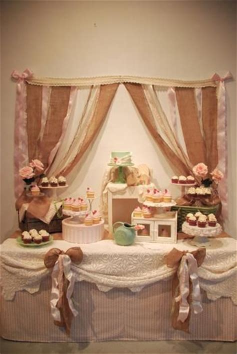 Segiempat Shabby Chic 8 tablescape for shabby chic baby shower ideas inspiration