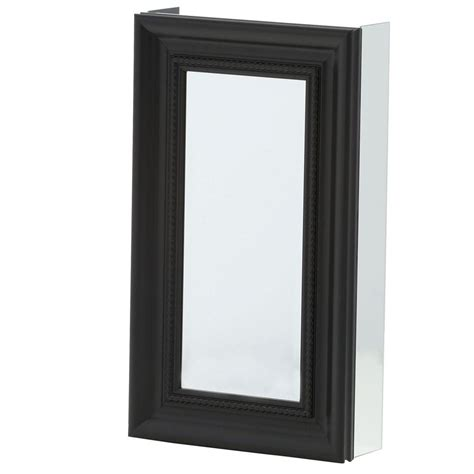 framed mirror medicine cabinets pegasus 15 in x 26 in framed recessed or surface mount