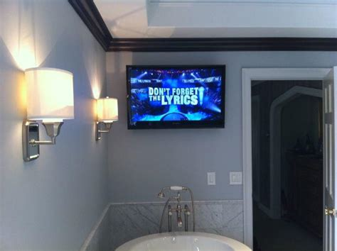 install tv in bathroom two popular ways of installing audio video in your bath