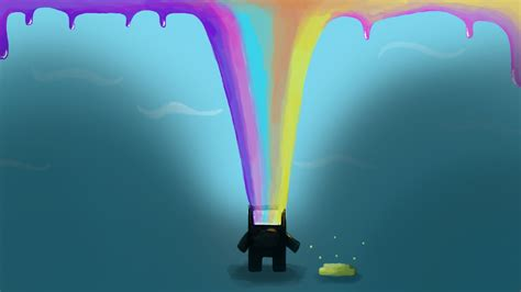 gamers art wallpaper bittrip runner colors fan art rainbows video games