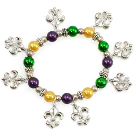 fleur de lis charms for jewelry mardi gras fleur de lis charm bracelet