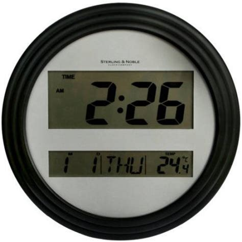 wall clock digital mainstays digital wall clock black walmart com