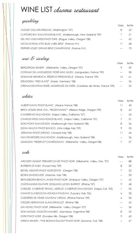 wine list templates color dining wine list musthavemenus