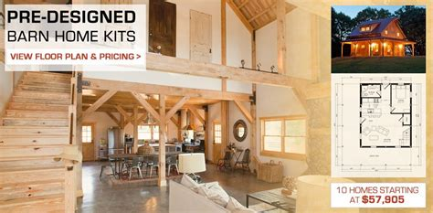 Barn With Loft Plans by Barn Post Amp Beam Homes Plans Loft Living Space Rustic