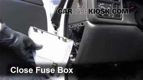 interior fuse box location   chevrolet silverado   chevrolet silverado