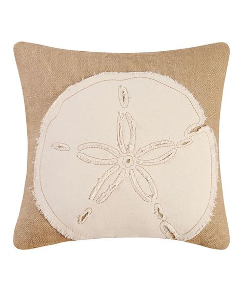 Sand Dollar Pillows by Sand Dollar Burlap Throw Pillow
