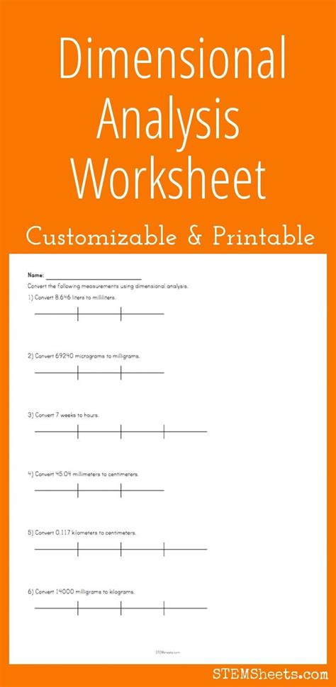 Dimensional Analysis Problems Worksheet by 28 Dimensional Analysis Practice Worksheet