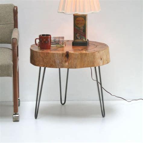 Sliced Log Coffee Table Stump Tree Slice Side Table Eco Friendly With Minimalist Steel Hairpin Legs Coffee Furniture On