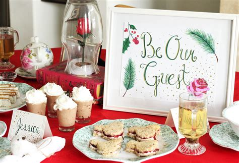 christmas tea party themes a the beast tea the healthy mouse