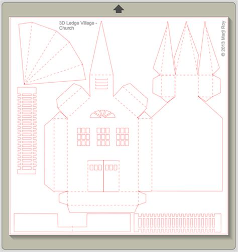 How To Make A Church Out Of Paper - ashbee design silhouette projects 3d ledge church