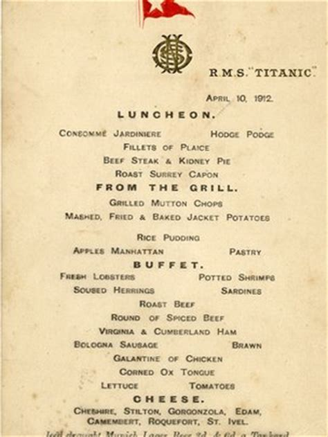 titanic class menu two titanic menus fetch more than 163 100 000 at auction in