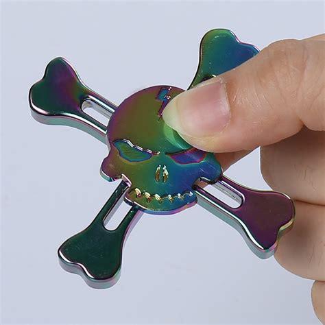 Special Produk Fidget Spinner Skull stress reliever alloy fidget spinner skull finger gyro