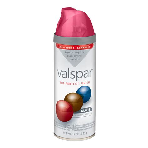 shop valspar 12 oz pink burst high gloss spray paint at lowes