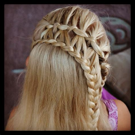 how to do a ladder braid step by step feather waterfall braid and ladder braid combo cute
