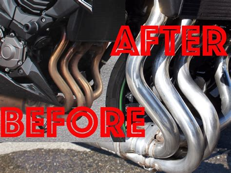 how to clean motorcycle exhaust pipes swissbiker youtube