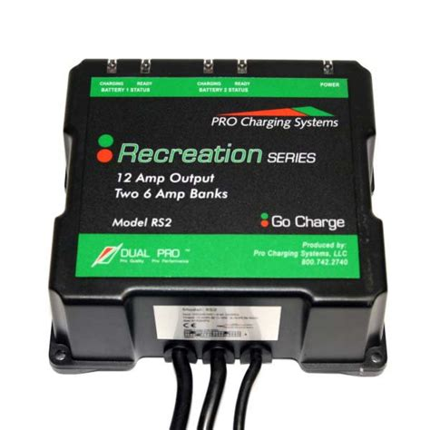 dual marine battery charger dual pro rs2 2 bank