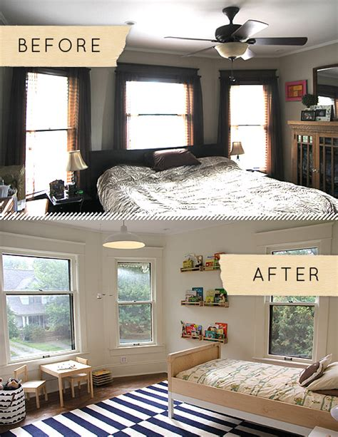 before and after home decor before after a sophisticated modern take on a boy s