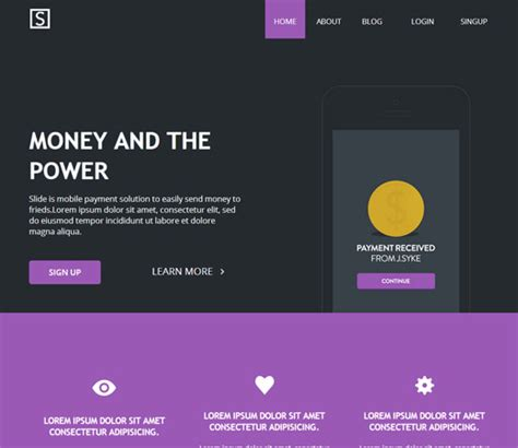 html templates for landing pages 20 free html landing page templates designmaz