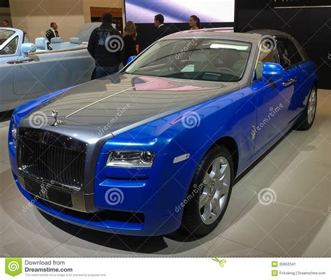 roll royce ghost blue blue gray rolls royce ghost editorial photo image 30653341