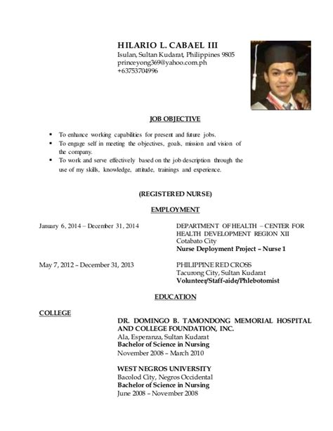 sle resume format for nurses in the philippines sle resume for nurses resume ideas