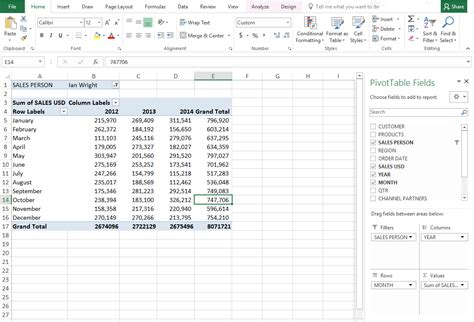 how to learn pivot table in excel 2013 microsoft excel pivot tables tutorial reilala
