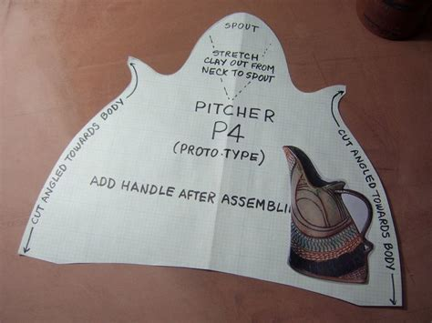 templates for clay projects pitcher 4 template pottery clay pinterest creative