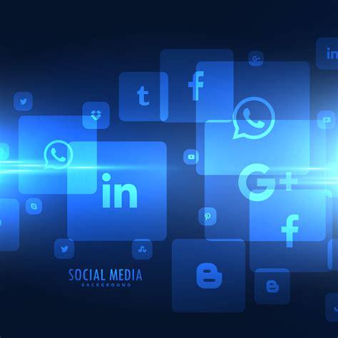 media background techno style social media icons background free