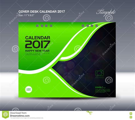 Calendar Cover Desk Calendar For 2017 Year Cover Desk Calendar Template