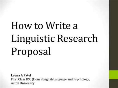 How To Make A Draft For A Research Paper - how to write a linguistic research