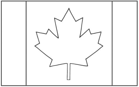 Canada Flag Coloring Page canada flag clipart black and white clipartsgram