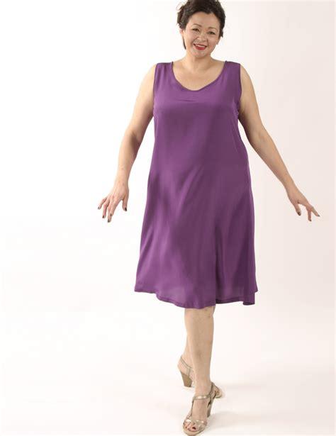Tank Dress Below Knee by Tank Dress Fuschia Silk Knee Length Plus Size Peggy Lutz Plus Size