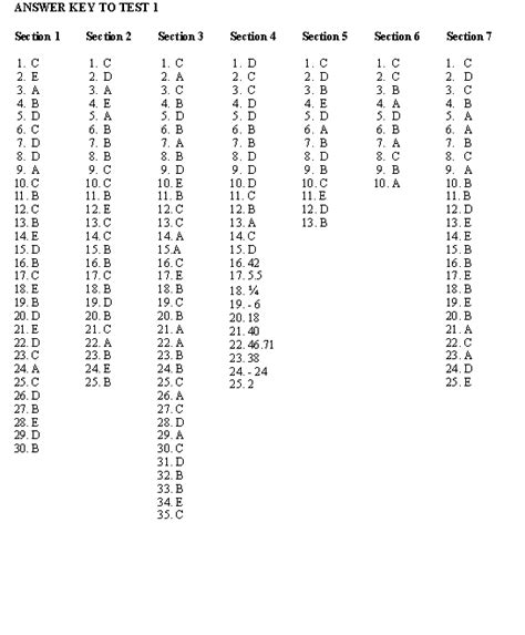 sat section 4 answers pinkmonkey com sat study guide section answer key to test 1