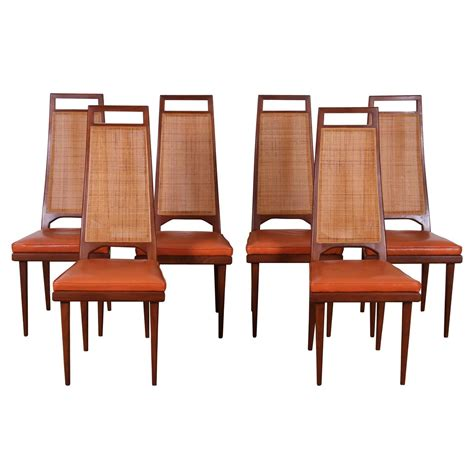 cane dining room chairs set of six mid century cane back dining chairs by urban