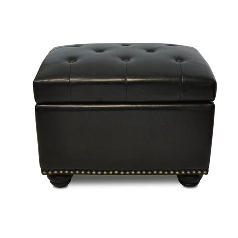 black ottoman storage 5th avenue black storage ottoman 163010b